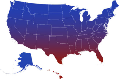 USA Climate Map